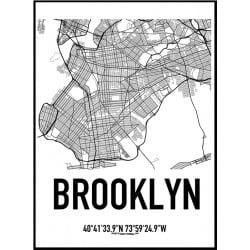 Brooklyn Karta Poster