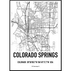 Colorado Springs Karta