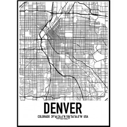 Denver Karta Poster