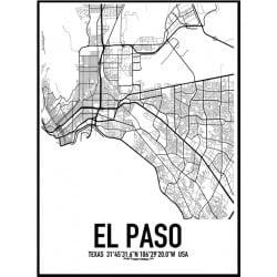 El Paso Karta Poster