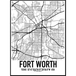Fort Worth Karta