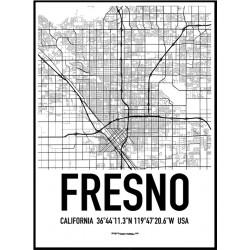 Fresno Karta Poster