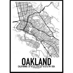 Oakland Karta Poster