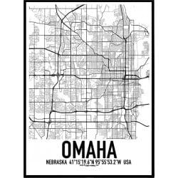 Omaha Karta Poster