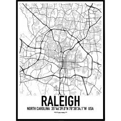 Raleigh Karta Poster