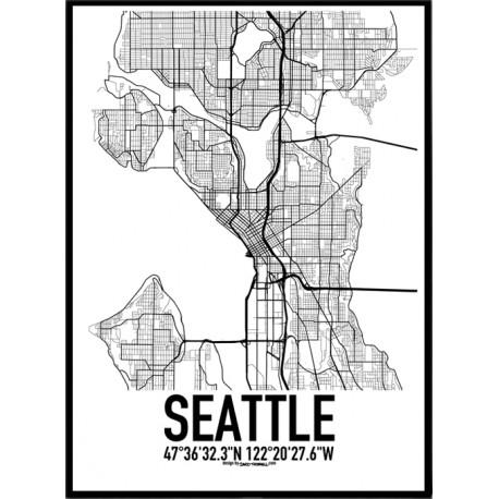 karta över seattle Handla från hela världen hos PricePi. malmö karta poster 50x70 karta över seattle