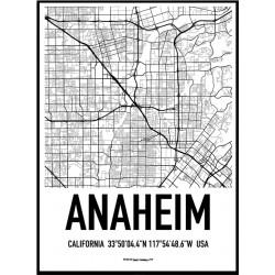 Anaheim Karta Poster
