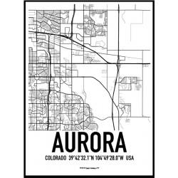 Aurora Karta Poster