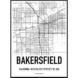 Bakersfield Karta