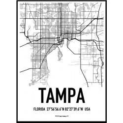 Tampa Karta Poster