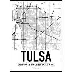 Tulsa Karta Poster