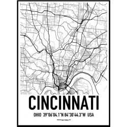 Cincinnati Karta