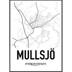 Mullsjö Karta Poster