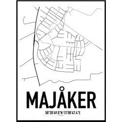 Majåker Karta Poster