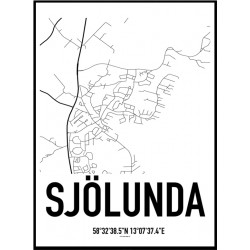 Sjölunda Karta Poster