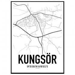 Kungsör Karta Poster
