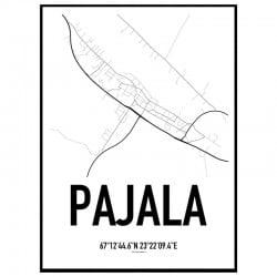Pajala Karta Poster