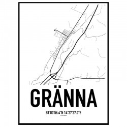 Gränna Karta Poster