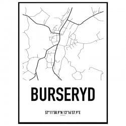 Burseryd Karta Poster