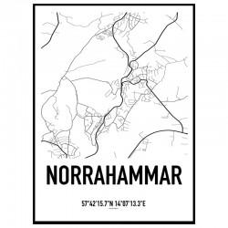 Norrahammar Karta Poster