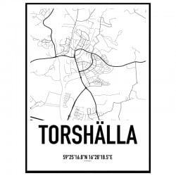 Torshälla Karta Poster