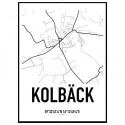 Kolbäck Karta Poster