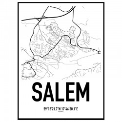 Salem Karta Poster