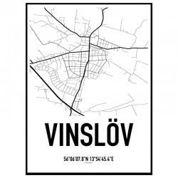 Vinslöv Karta Poster