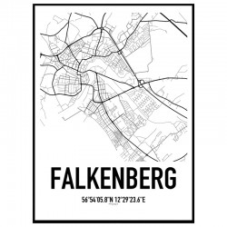 Falkenberg Karta Poster