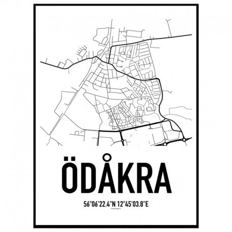 Ödåkra Karta Poster