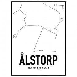 Ålstorp Karta Poster