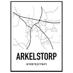 Arkelstorp Karta Poster