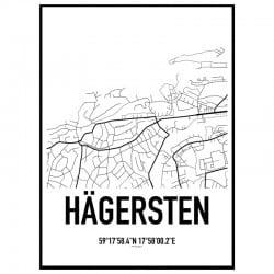 Hägersten Karta Poster