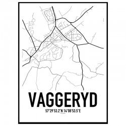 Vaggeryd Karta Poster