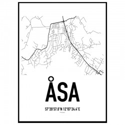 Åsa Karta Poster