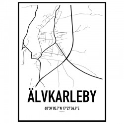 Älvkarleby Karta Poster