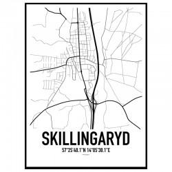 Skillingaryd Karta