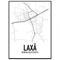 Laxå Karta Poster