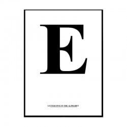 Alfabet E Poster