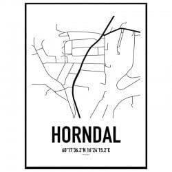 Horndal Karta Poster