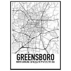 Greensboro Karta