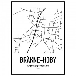 Bräkne-Hoby Karta