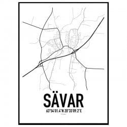 Sävar Karta Poster