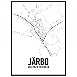 Järbo Karta Poster