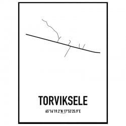 Torviksele Karta Poster