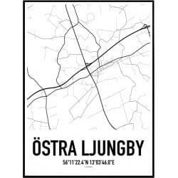 Östra Ljungby Karta