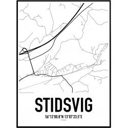 Stidsvig Karta Poster
