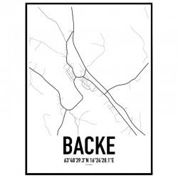 Backe Karta Poster