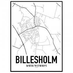 Billesholm Karta Poster